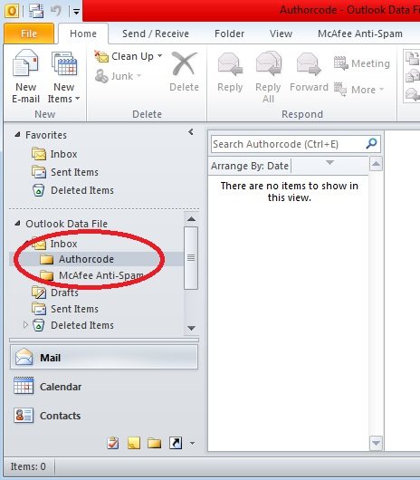 how to make folders in outlook